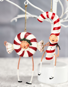 ESC Lori Mitchell Christmas Patsy & Peppie Peppermint Ornaments - Piglet's Closet