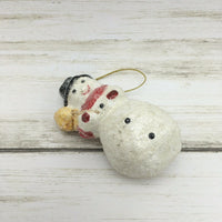 Midwest Teena Flanner Snowman with Broom  Christmas Ornament #B - Piglet's Closet