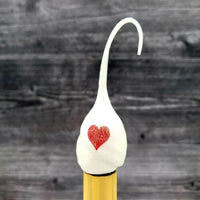 Valentine's Day XOXO White Glitter Silicone Night Light Bulb Replaceable - Piglet's Closet