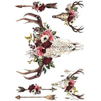 "Prima Re-design 24"" x 34"" Beautifully Native Floral Decor Transfer - Piglet's Closet"