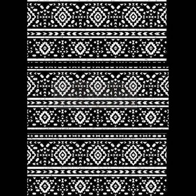 Re-design Prima Black and White Folk II Decor Furniture Transfer 24