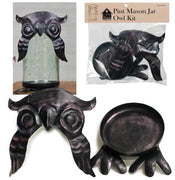 CTW Colonial Tin Works Mason Jar Owl Kit Pint Mason Jar Owl Lid & Base - Piglet's Closet