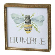 "Primitives By Kathy Be ""Bee"" Humble Wooden Inset Box Sign"