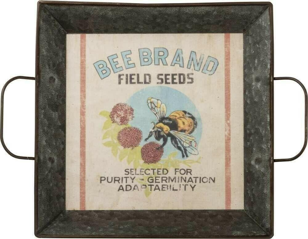Primitives By Kathy Bee Brand Field Seeds Farmhouse Tray