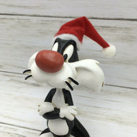 Warner Bros Studio Store Looney Tunes Santa Sylvester Bobble head Figurine - Piglet's Closet