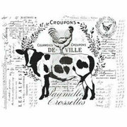 "Re-design Prima Farm Delights Farmhouse Cow Decor Transfer 22"" x 29"" - Piglet's Closet"