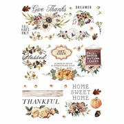 "Re-design Prima Thankful Autumn Decor Furniture Transfer  25"" x 35"" - Piglet's Closet"