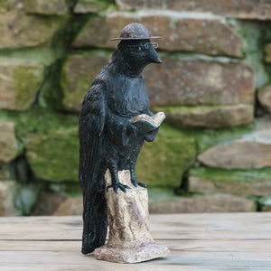 "Ragon House Paper Mache Smart Crow 12.5"" Primitive Halloween Decor - Piglet's Closet"