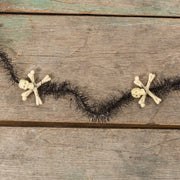 Ragon House Primitive 6' Skull and Tinsel Garland Halloween Decor