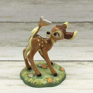 "Walt Disney Showcase Royal Doulton ""Bambi"" with Butterfly Figurine - Piglet's Closet"