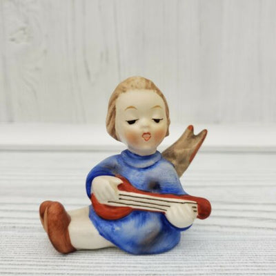 Goebel West Germany Angel Playing Lute Porcelain Figurine - Piglet's Closet