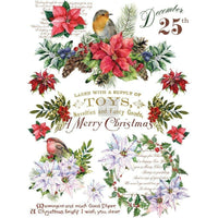 "Re-design Prima Christmas Greetings Decor Furniture Transfer 25"" x 35"""