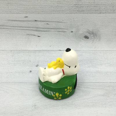 Vintage Peanuts Snoopy Day Dreamin' Ceramic Painted Figure Woodstock