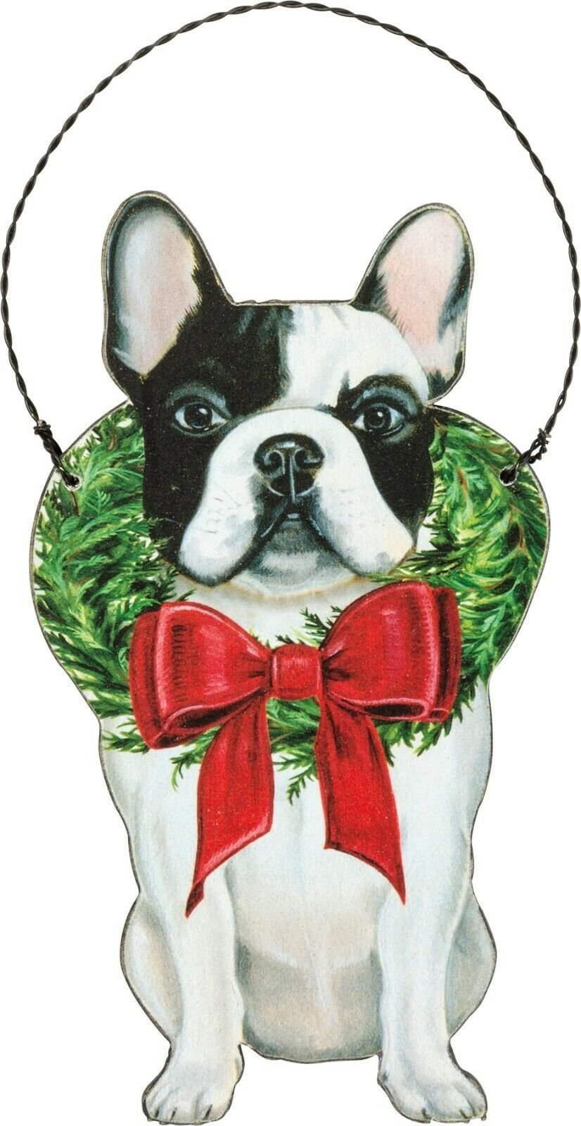 PBK Handsome Christmas Frenchie French Bulldog Dog Wood Ornament - Piglet's Closet