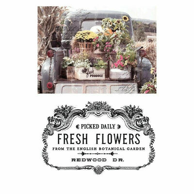 Re-design Prima Fresh Flowers Truck Decor Transfer 24