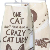 Primitives By Kathy One Cat Away From Being A Crazy Cat Lady Kitchen Dish Towel - Piglet's Closet