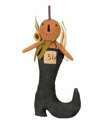 Primitives By Kathy Halloween Jack O' Lantern in Witches Boot Stuffed Plush - Piglet's Closet