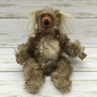 Handsome Bears of the Badlands OOAK Mohair Jointed Handmade Bear - Piglet's Closet