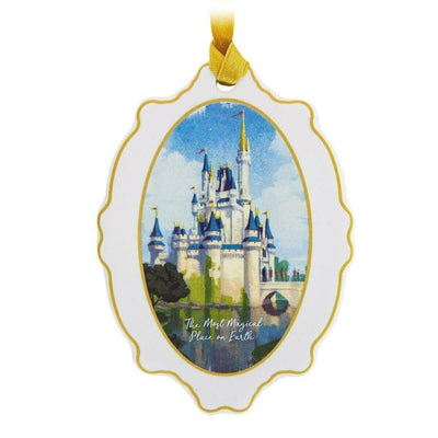 Walt Disney Cinderella Castle Medallion Ceramic Ornament
