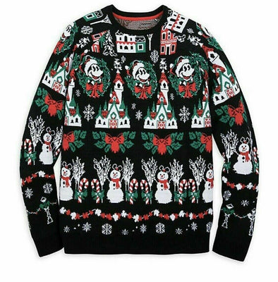 2019 Disney Mickey Mouse Light-Up Holiday Christmas Men's Sweater Size Medium