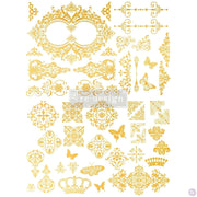 "Re-design with Prima Decor Transfer - Gilded Baroque Scroll Work 17"" x 23"" - Piglet's Closet"