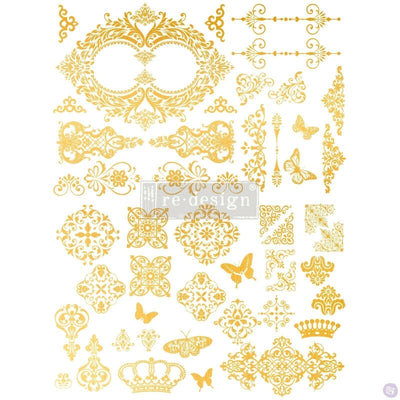 Re-design with Prima Decor Transfer - Gilded Baroque Scroll Work 17