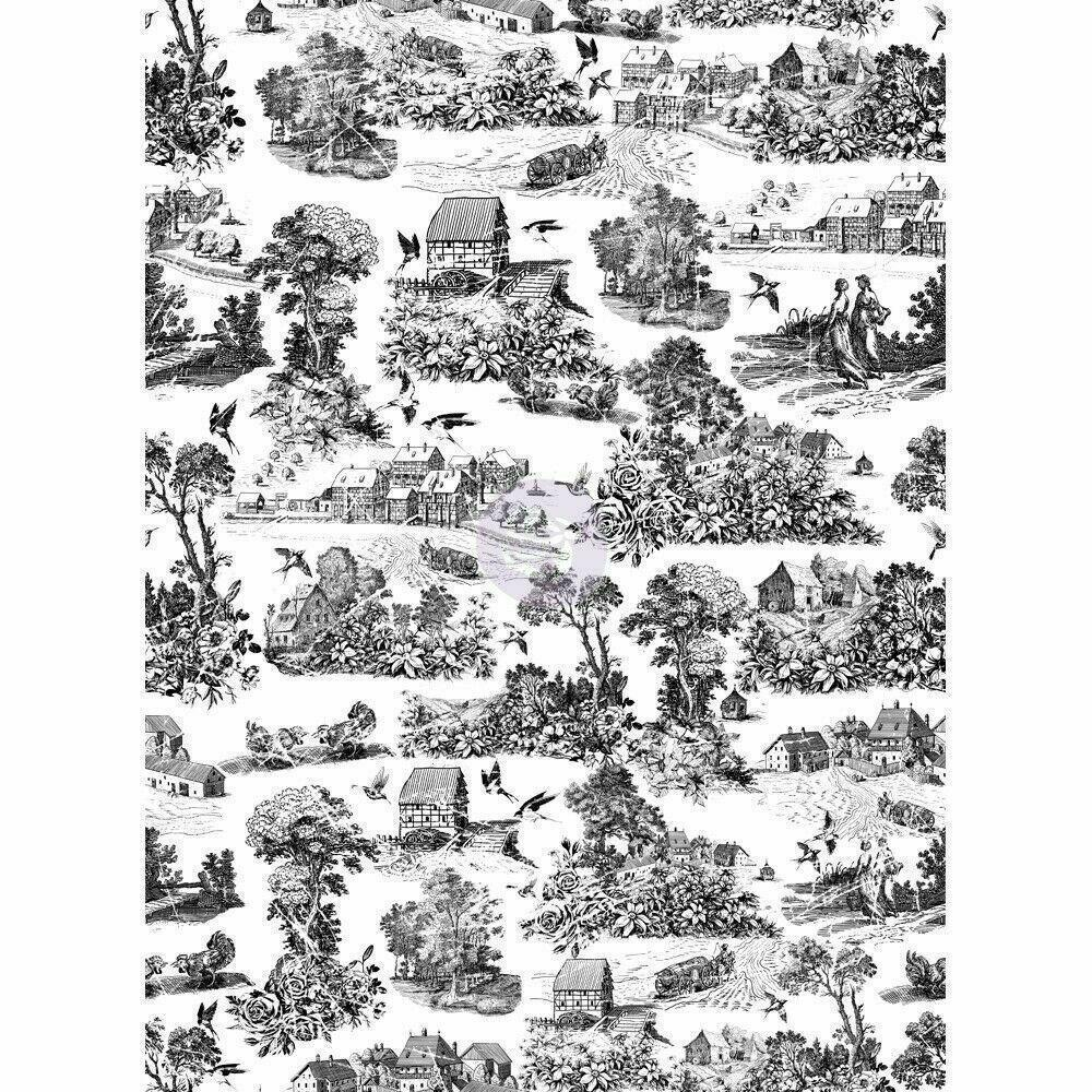 "Re-design Prima Simplicity Black White Furniture Decor Transfer 22"" x 30"" - Piglet's Closet"