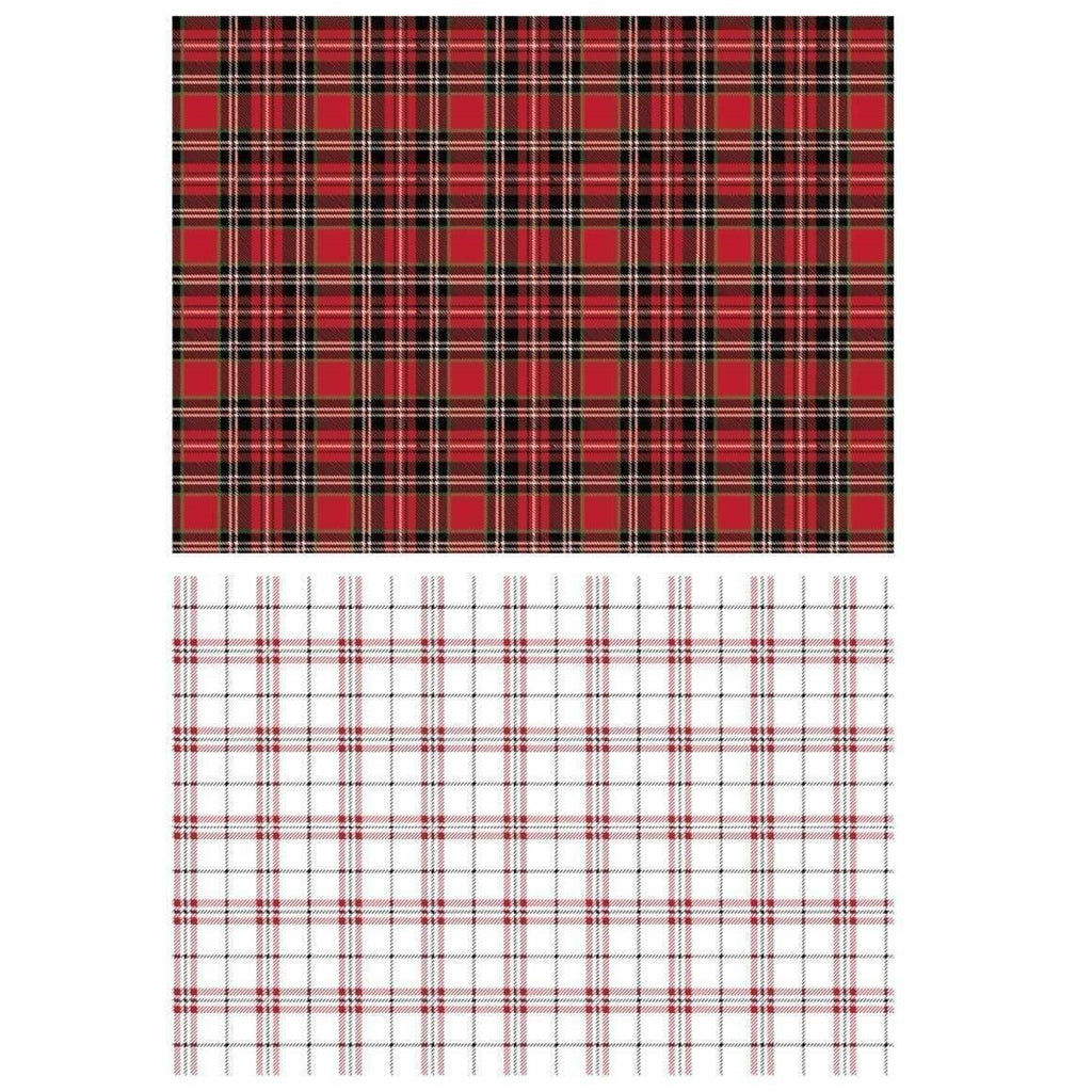 "Re-design Prima Gingham Red White Furniture Home Decor Transfer 23"" x 33"" - Piglet's Closet"