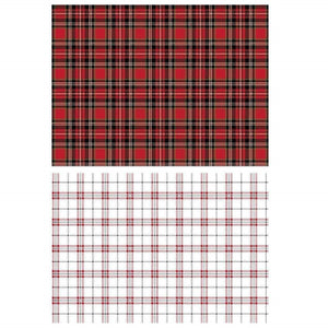 "Re-design Prima Gingham Red White Furniture Home Decor Transfer 23"" x 33"""