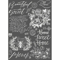 "Prima Re-design 24"" x 34"" Beautiful Home Floral Decor Transfer - Piglet's Closet"