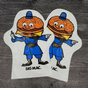 1976 McDonald's Big Mac Vinyl Bag Hand Puppet Advertising Lot of 2 - Piglet's Closet