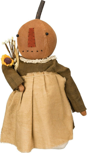 Primitives By Kathy Halloween Jack O'Lantern Doll Figure Primitive