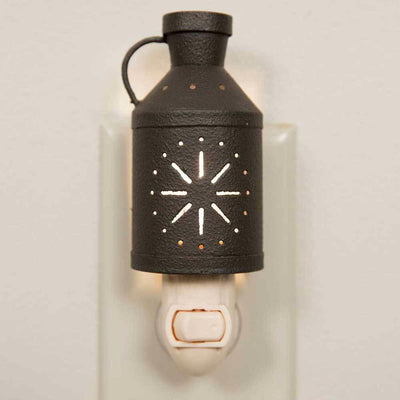 CTW Primitive Metal Pinwheel Milk Pitcher Night Light Rustic - Piglet's Closet