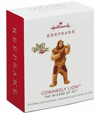 2018 Hallmark Cowardly Lion Wizard of Oz NIB Ornament Limited Edition Miniature