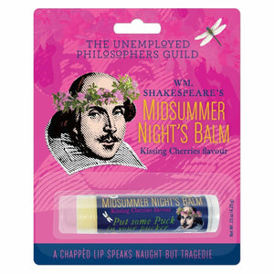 UPG Shakespeare Midsummer Night's Novelty Lip Balm Naught but Tragedie - Piglet's Closet