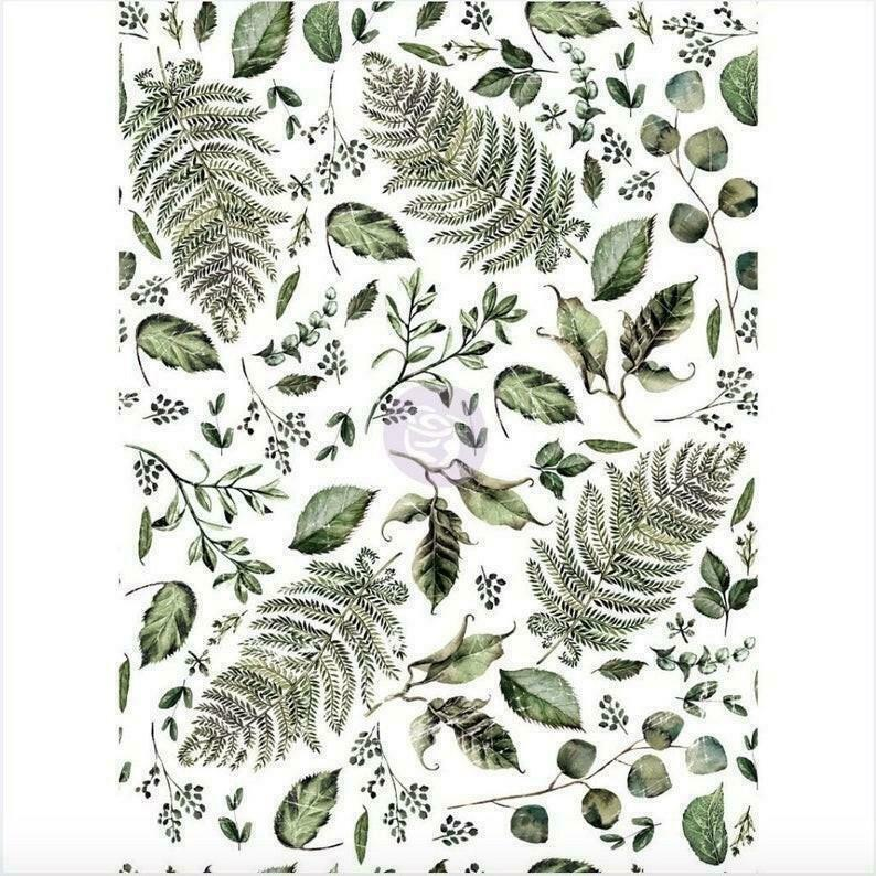 "Re-design Prima Fern Woods Floral Furniture Decor Transfer 22"" x 30"" - Piglet's Closet"