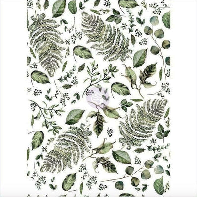 Re-design Prima Fern Woods Floral Furniture Decor Transfer 22