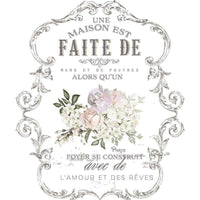 "Re-design Prima L'amour Et Des Reves Floral Decor Furniture Transfer 26.5"" x 36"