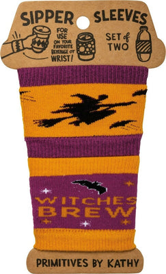 Primitives by Kathy Halloween Witches Brew Beverage Coffee Sipper Sleeves - Piglet's Closet