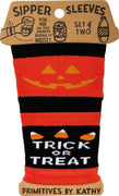 Primitives by Kathy Halloween Trick or Treat Beverage Coffee Sipper Sleeves - Piglet's Closet