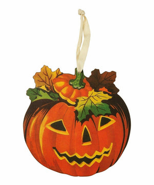 Primitives by Kathy Halloween Retro Pumpkin Hanging Decor