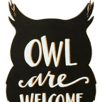 Primitives by Kathy Halloween Owl are Welcome Hanging Decor