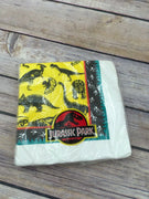 Vintage Retired Gibson Jurassic Park Party Supplies 20 Beverage Napkins 3 Ply - Piglet's Closet