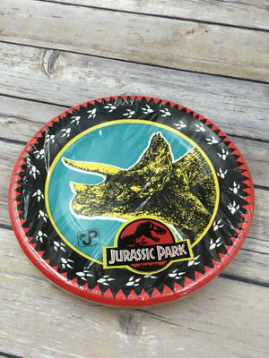 Vintage Retired Gibson Jurassic Park Party Supplies 10 Deep Dish Plates 7