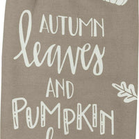 Primitives by Kathy Fall Autumn Leaves and Pumpkins Please Kitchen Dish Towel