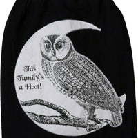 Primitives by Kathy Halloween Owl This Family is a Hoot Black Kitchen Dish Towel