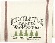 PBK Mistletoe Farms Christmas Trees Rustic Farmhouse Dish Towel - Piglet's Closet