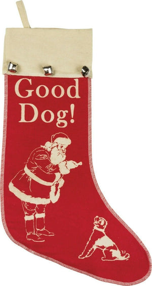 Primtives By Kathy Vintage inspired Good Dog! Christmas Pet Stocking - Piglet's Closet