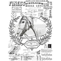 "Redesign by Prima Fine Horsemen Farm Horse Furniture Decor Transfer 24""x 33"" - Piglet's Closet"