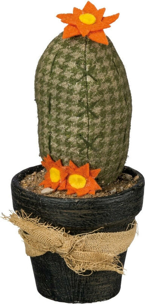 Primitives By Kathy Rustic Pincushion Cactus in Pot